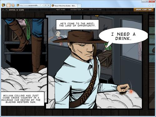 Скриншот комикса Never mind the Bullets