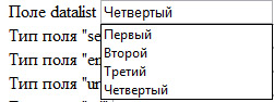 Реализация тега datalist в Opera 11 Alpha