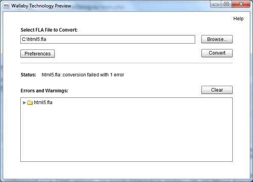 Интерфейс Adobe Wallaby