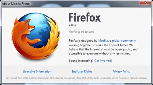 Mozilla Firefox 4 beta 7