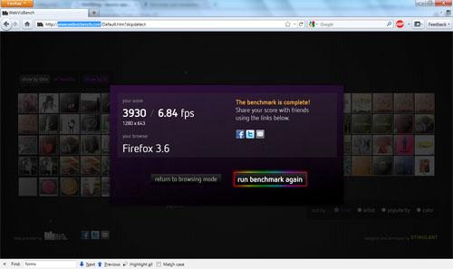 Тест на аппаратное ускорение графики в Firefox 4 Beta 7