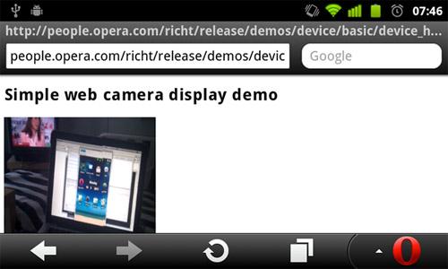 Реализация элемента device в Opera