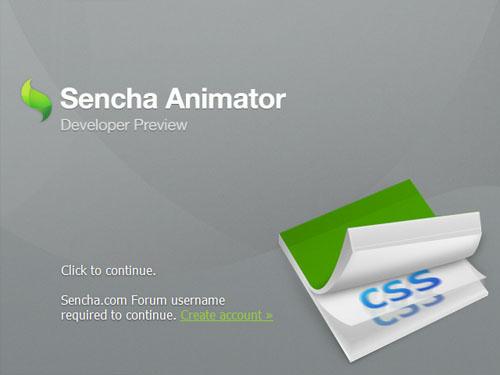 Загрузка Sencha Animator